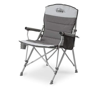 CORE Equipment Folding Padded Hard Arm Chair - Best Outdoor Chair