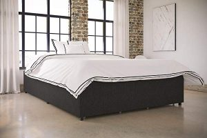 DHP Maven Platform Bed with Upholstered Linen