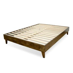 eLuxurySupply Wood Bed Frame – Lower Underframe Clearance