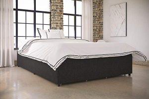 DHP Maven Platform Bed with Upholstered Linen